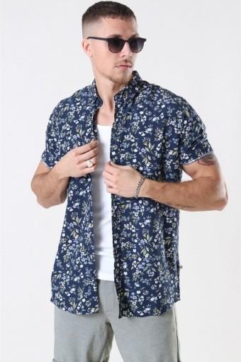 Johan Exotic S/S Overhemd Navy 6