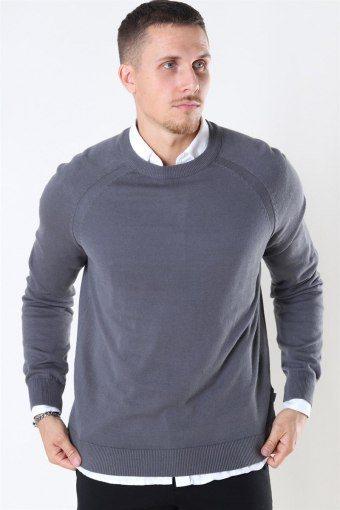 Luno O-neck Breien Grey Melange