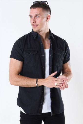Jack & Jones Sheridan Overhemd S/S Black Denim