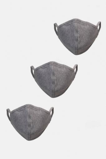 3-Pack Mondstuk Oxford Grey