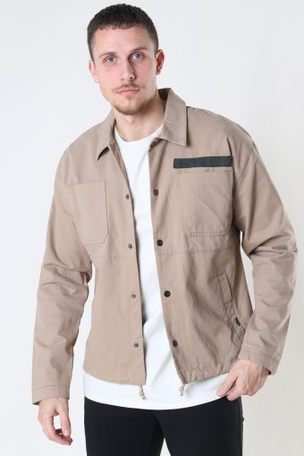 ONSJACKSON LIFE COTTON OVERSHIRT JKT Chinchilla