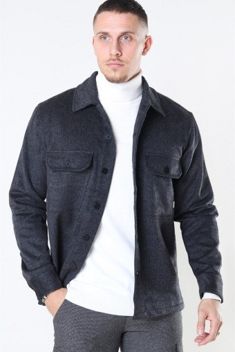 Glixto Wool Overshirt Grey