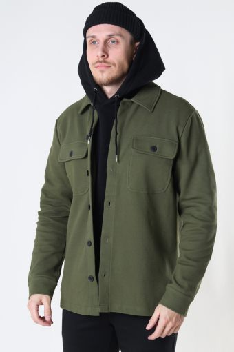 ONSchoenDYL OVERSHIRT SWEAT Olive Night
