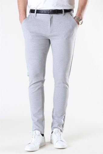 Ponte Roma Plain Pants Light Grey Melange