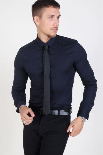 Alfredo LS Overhemd Dark Navy