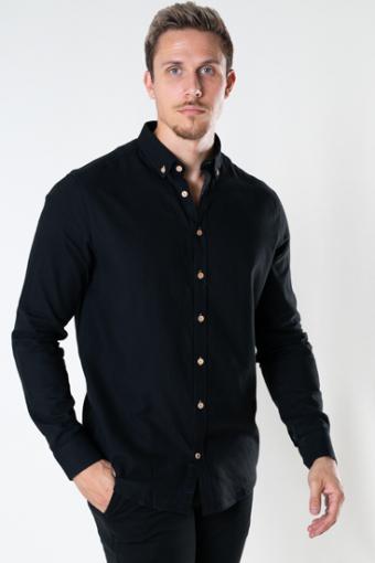 Johan Diego Cotton Overhemd Black