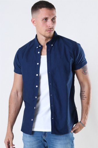 Johan Oxford Washed Overhemd Blue