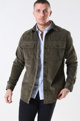 Alfred Corduroy Overhemd Olive Night
