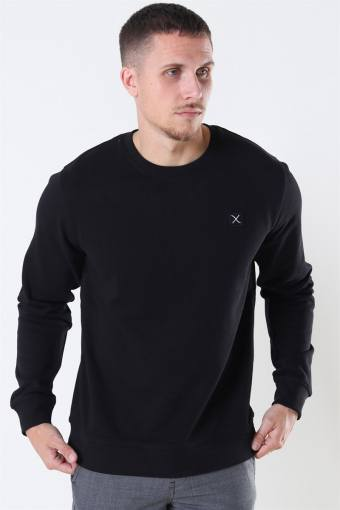 Clean Cut Basic Organic Crewneck Black