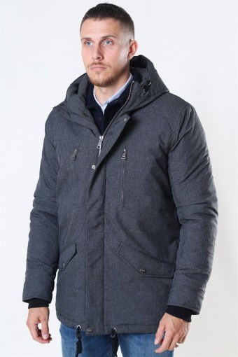 Anders Parka Jas Charcoal Mix