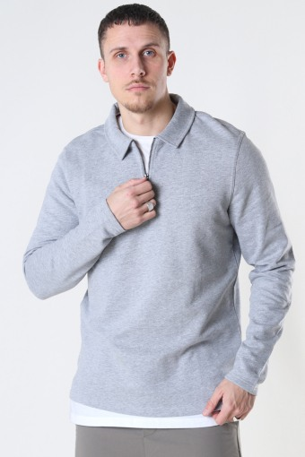 ONSMAC REG HALF ZIP SWEAT Light Grey Melange