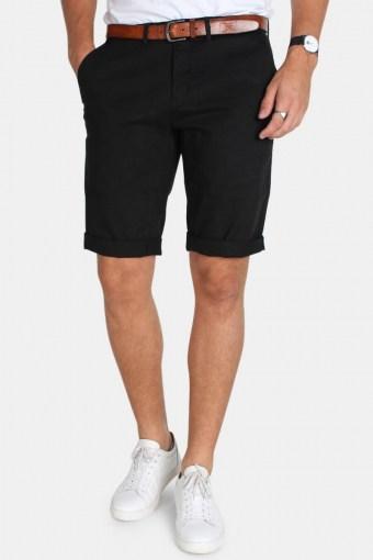 Jonas Stretch Shorts Stone Black