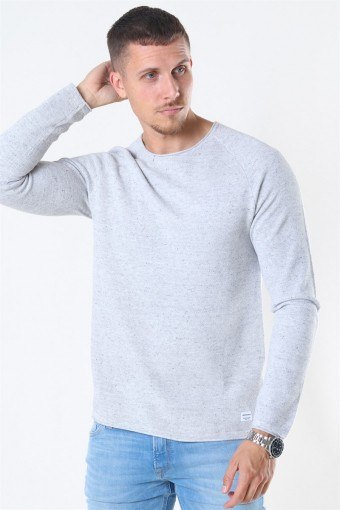 Hill Crew Neck Breien Light Grey Melange