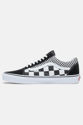 Old Schoenol Mix Checker Sneakers Black/True