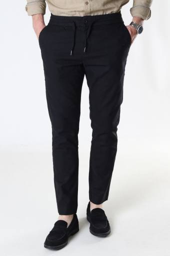 Barcelona Cotton / Linnen Pants Black