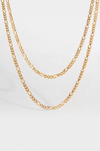 Double Antique Halskæde Gouden toon