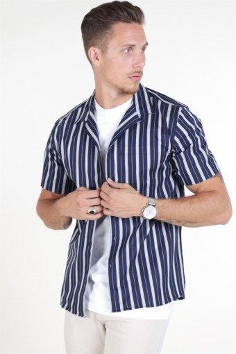 Les Duex Manny Overhemd Dark Navy