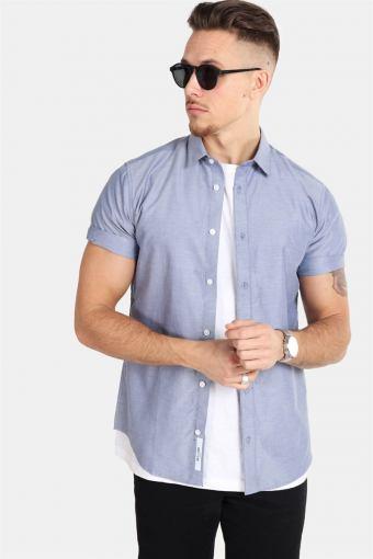 ravis SS Solid Overhemd Majolica Blue
