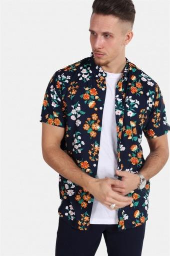 Johan Exotic S/S Overhemd Navy 10