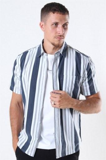 Stephan Hoyos Overhemd Navy/White