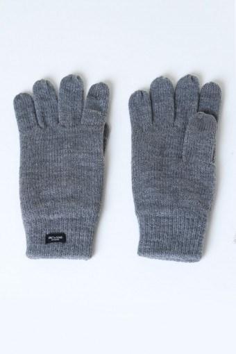Clas Fingerforet Gebreide handschoen Medium Grey Melange