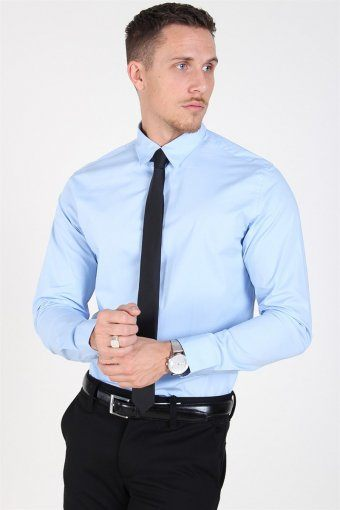 Slim-Michigan LS Overhemd Light Blue