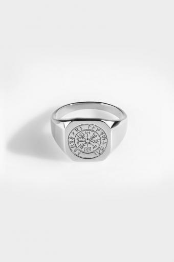 Vegvisir SignatKloke Ring Silver