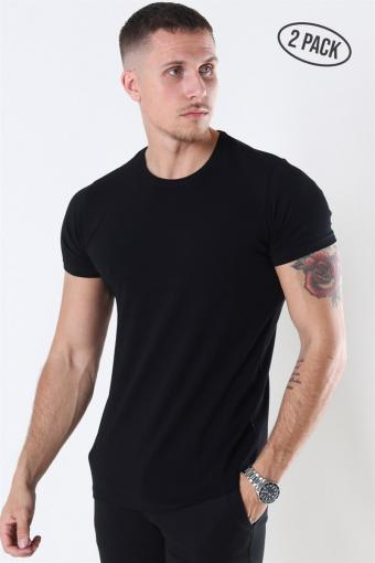 Muscle Fit T-shirt 2-Pack Black