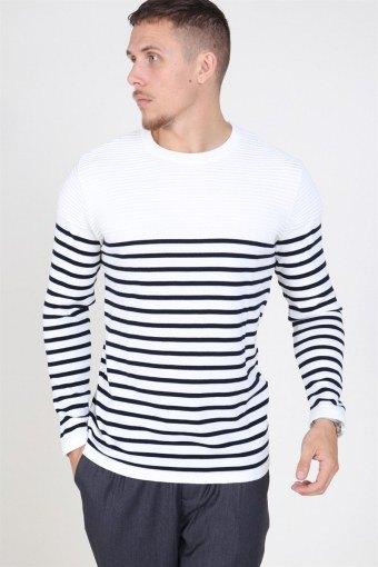 Link Stripe Breien Off White/navy