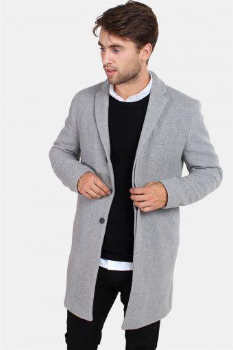 Brove Wol Lange Jas Medium Grey