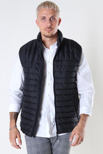 Paul Quilted Vest Black