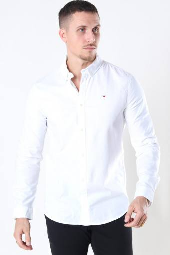 Tommy Jeans Slim Stretch Oxford Overhemd White