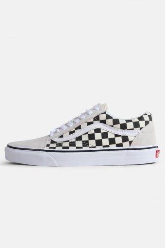 Old Schoenol Checkerbord Sneakers White Black