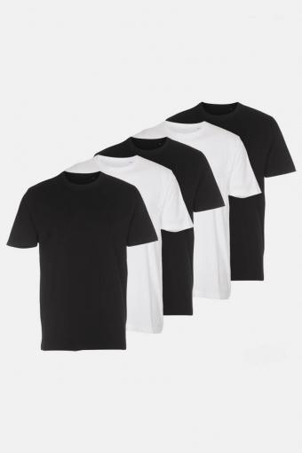 T-shirt 5-Pack Black/White
