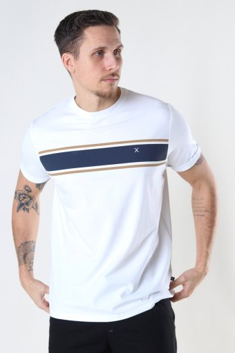 Kiley Organic Tee White / Navy