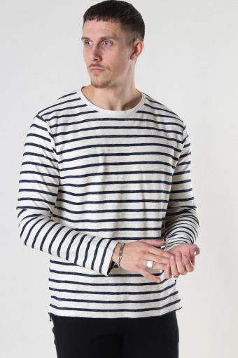Richard Organic Sweat Ecru / Navy