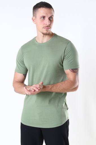 Dew SS Long T-shirt Hedge Green