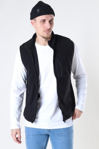 Onsdavis Life Fleece Vest Otw Black