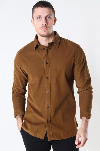 Reg Henley Fløjls Overhemd LS Breen
