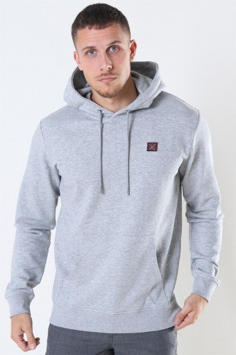 Clean Cut Basic Organic Hoodie Light Grey Melange
