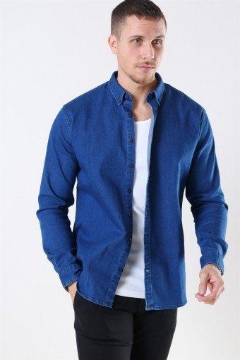 Johan Denim Overhemd Dark Blue