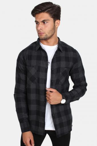 Tb297 Overhemd Black/Charcoal
