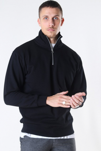Quarter Zip Sweat Black
