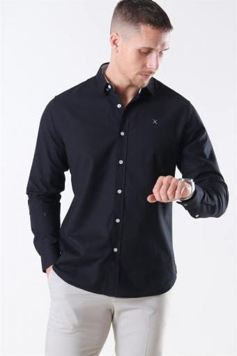 Clean Cut Oxford Plain Overhemd Black