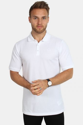 Dri Fit Pique Polo White