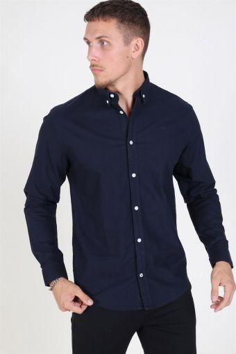 Johan Oxford Washed Overhemd Navy