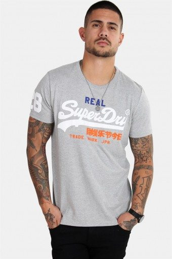 Vintage Logo Tri T-shirt Montana Grey Grit