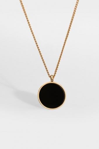 Black Onyx Ketting Gold
