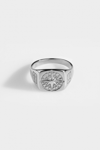 Compass SignatKloke Ring Silver