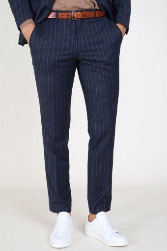Slim Aden Stripe Broek Grey/Blue